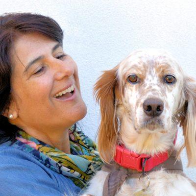 fotografia profissional de retrato de cocker spaniel com a dona