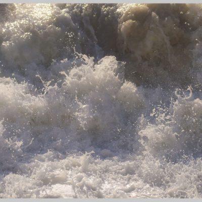 Fotografia profissional de espuma do mar.